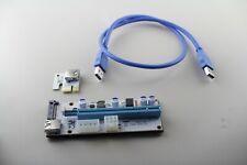 6x Grafikkarte USB 3.0 PCI-E Express Extender Riser Card Adapter für GPU Miner