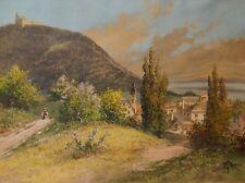 Gustav Benesch, Kahlenbergerdorf, Wien, Donau, Aquarell, um 1900