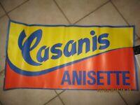 Ancienne vintage Affiche Pub Casanis Anisette déco bar bistrot jeu de boule
