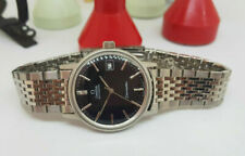 USED 1973 OMEGA SEAMASTER BLACK DIAL DATE CAL:1012 AUTO MAN'S WATCH SS STRAP