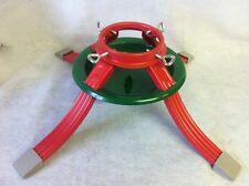 NEW HEAVY DUTY METAL TREE STAND CHRISTMAS 4 LEG STEEL RED GREEN XMAS FREE POST