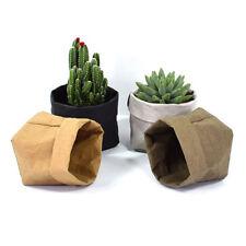 Washable Succulents Pots Kraft Paper Bag Plant Flowers Home Resuable 4 Color