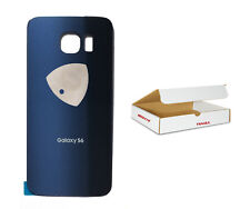 Black Sapphire Blue Back Glass Cover w Adhesive Replacement Fit Galaxy S6 G920