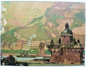 Vintage Edenbridge Wooden Jigsaw Puzzle.