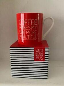 "Wild & Wolf ""Coffee Makes My Day More Beautiful "" Happy Jackson Mug (NEW)"