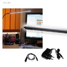 Lampe de lecture mit Borne à vis, 20 LEDs, Alu argent, table éclairage