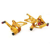 Foot Peg Rearset Brake Pedal Footpegs Fit Suzuki Hayabusa GSX1300R 99-18 Gold