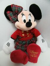 """Disney Store Plush Doll Toy Minnie Mouse 2016 Christmas Holiday 16"""""""