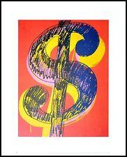 Andy Warhol dollari Sign Poster Stampa d'Arte Immagine Nella Cornice in Alluminio Nero 36x28cm