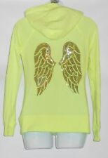 Victoria's Secret Supermodel Bling Sequin Angel Wings Hoodie Mint Ice XS NWT