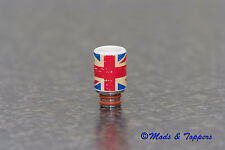 V.I.P Ceramic Union Jack 510 Drip Tip - E-Cig Mouthpiece - 23mm long.