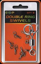 BRAND NEW ESP DOUBLE RING SWIVELS COARSE CARP FISHING
