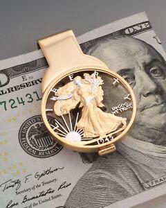 Lady Liberty Money Clip, United States Half dollar Money Clip, ( # 322M )