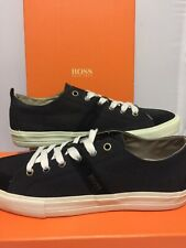 "Men's Hugo Boss Boss Orange ""Buck"" Fashion Sneakers  Sizes 8 Black Suede/canvas"
