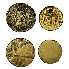PESI MONETARI Francia, Spagna, Lotto due Pesi monetari del Luigi e della Doppia