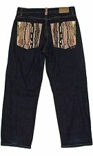 Coogi 36x32 (Tag 38x34) Vivid Embroidery Denim Pant Baggy Urban Jeans Mens