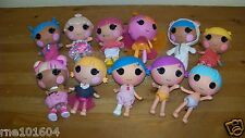 Lalaloopsy Littles Minis Sisters Brother 11 Dolls Lot 0519A