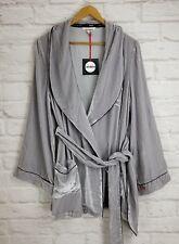 Sleeping With JACQUES The Bon Vivant Silk Velvet Robe Platinum Sze 3 L US 8 $489