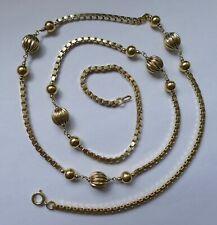 F. BINDER Collier 15 Kugeln Venezianerkette 835 Silber vergoldet Vintage 70er