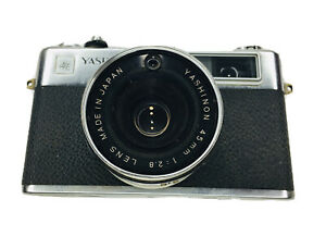 Vintage Yashica MG-1 35mm Camera With Yashinon 45mm 1:2.8 Lens NOT TESTED