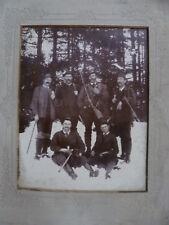 Jagdgesellschaft großes Pappfoto um 1900