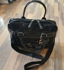 Beautiful Juicy Couture Black Velour  Shoulder bag,with pocket for laptop