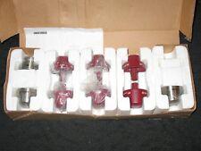 WOLF 820491 Stainless Steel & Red Knob Kit, 9, Sealed Burner Range Top, New SRT