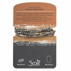 Scout RIVER STONE Stone of Balance BRACELET or NECKLACE beads Jewelry Wrap