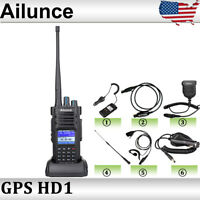 Ailunce HD1 Digital DMR Ham Walkie Talkies Dual Band GPS High Power Radio IP67