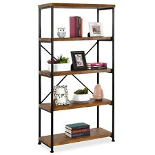 Best Choice Products 5-Tier Rustic Industrial Bookshelf Display