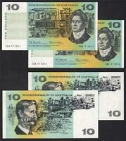 R-301F.  Coombs/Wilson Ten Dollars..1st Prefix SAA - CONSECUTIVE Pair   aU-UNC