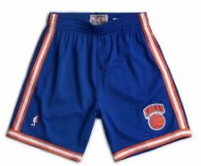 New York Knicks Mitchell & Ness Swingman  Blue Orange NBA Shorts Mens Size Small