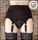 6 Strap Luxury Suspender Belt Black (Garter Belt) NYLONZ - Made In UK