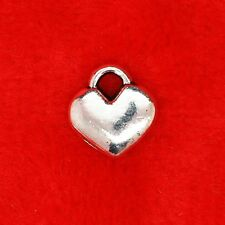 10 x Tibetan Silver Mini Love Heart Charm Pendant Finding Bead Jewellery Making