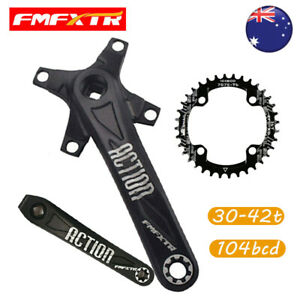 104/64 BCD Crank 170mm Crankset fit 32-42T Narrow Wide Single MTB Bike Chainring