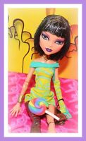 ❤️Monster High Cleo de Nile Dawn of the Dance Mummy Doll Dress Outfit Purse❤️