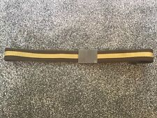 """Gucci Belt Brown and gold Fabric with Metal clasp one size up to 38"""""""