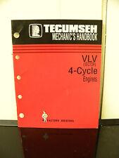 Tecumseh VLV (Vettore) 4-ciclo di servizio del motore/riparazione manuale di officina meccanica