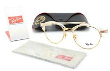 Ray-Ban Glasses RB 4246v 5762 49-19 140 Gold Clear Round Panto Unisex Luxottica