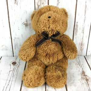 """Toys R Us Exclusive Animal Alley Plush Bear Brown w/ Brown Bow 13"""" Soft EUC"""