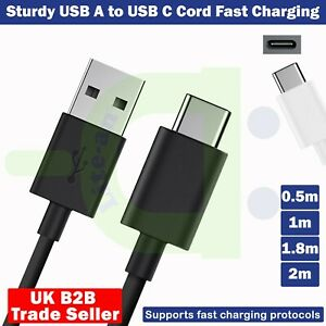 Fast Charging Cable For Samsung A20 A40 A50 Type C Phone USB-C Charger Cable