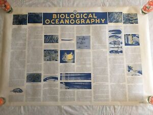 Vintage 60's Department Of The Navy Pilot Charts Of The North Atlantic Ocean