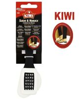 Kiwi Suede & Nubuck Brush Restore Clean Remove Dust & Dirt Revives Stains Boots