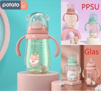 Babyflaschen Milchflasche Baby Flasche mit Griff Anti-Kolik BOTTLE Trinkflasche