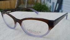 Allure Eyeglass Frames Women's L3000 Brown Purple Glasses Rx-able MSRP $48 B4