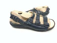 NEW! Rockport Women's 3 Buckle Leather Sandals Black 152J tz