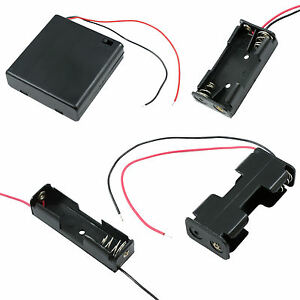 AA / AAA / 9V / PP3 Battery Holder/Connector Enclosed or Open with Switch