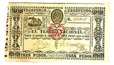 Paraguay … P-31 … 3 Pesos … ND(1868) … *AU-UNC*