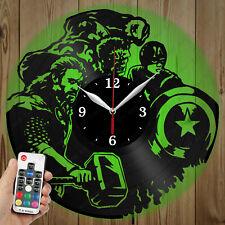 LED Vinyl Clock Avengers LED Wall Art Decor Clock Original Gift 3783
