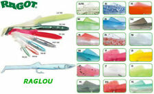 RAGLOU RAGOT 85 MM ORIGINALI ANGUILLETTA SILICONE PESCA TRAINA ARTIFICIALE ESCA
